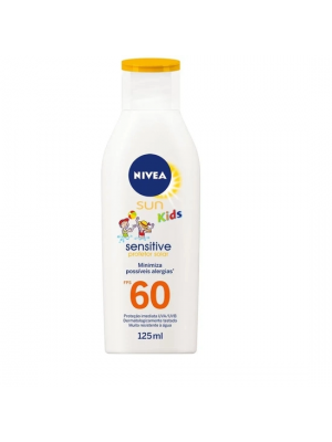 PROTETOR SOLAR NIVEA SUN KIDS FPS 60 SENSITIVE 125ML