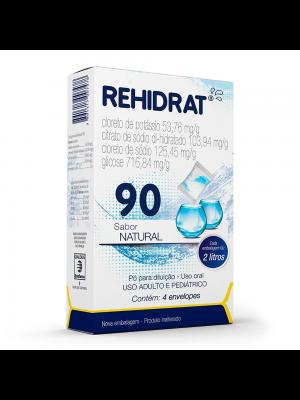 REHIDRAT 90 CAIXA COM 4 ENVELOPES SABOR NATURAL