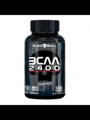 BCAA 2400MG BLACK SKULL CAVEIRA PRETA 100 TABLETES
