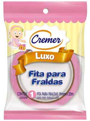 FITA CREPE P/FRALDA CREMER ROSA