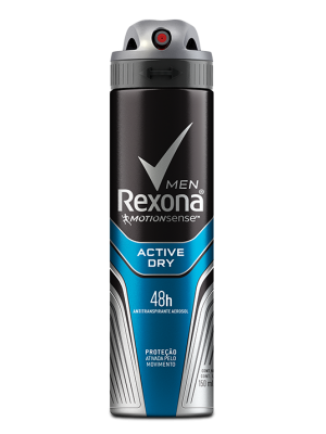 DESODORANTE REXONA AEROSOL MASCULINO ACTIVE DRY - 150ML