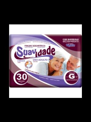 FRALDA GERIATRICA SUAVIDADE  G 30 UNIDADES