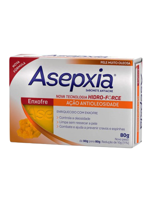 ASEPXIA SABONETE: ENXOFRE - 80 GRAMAS