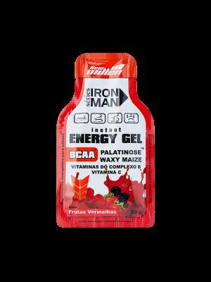 IRON MAN ENERGY GEL NEW MILLEN: FRUTAS VERMELHAS - 30 GRAMAS