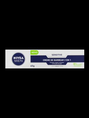CREME BARBEAR NIVEA: SENSITIVE 2 EM 1 - 65 GRAMAS