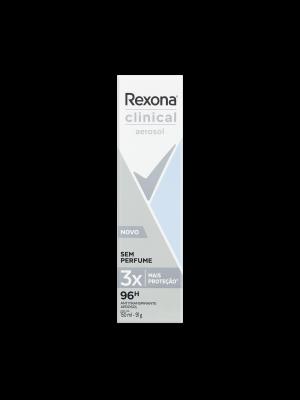 DESODORANTE REXONA CLINICAL AEROSOL: SEM PERFUME - 150ML